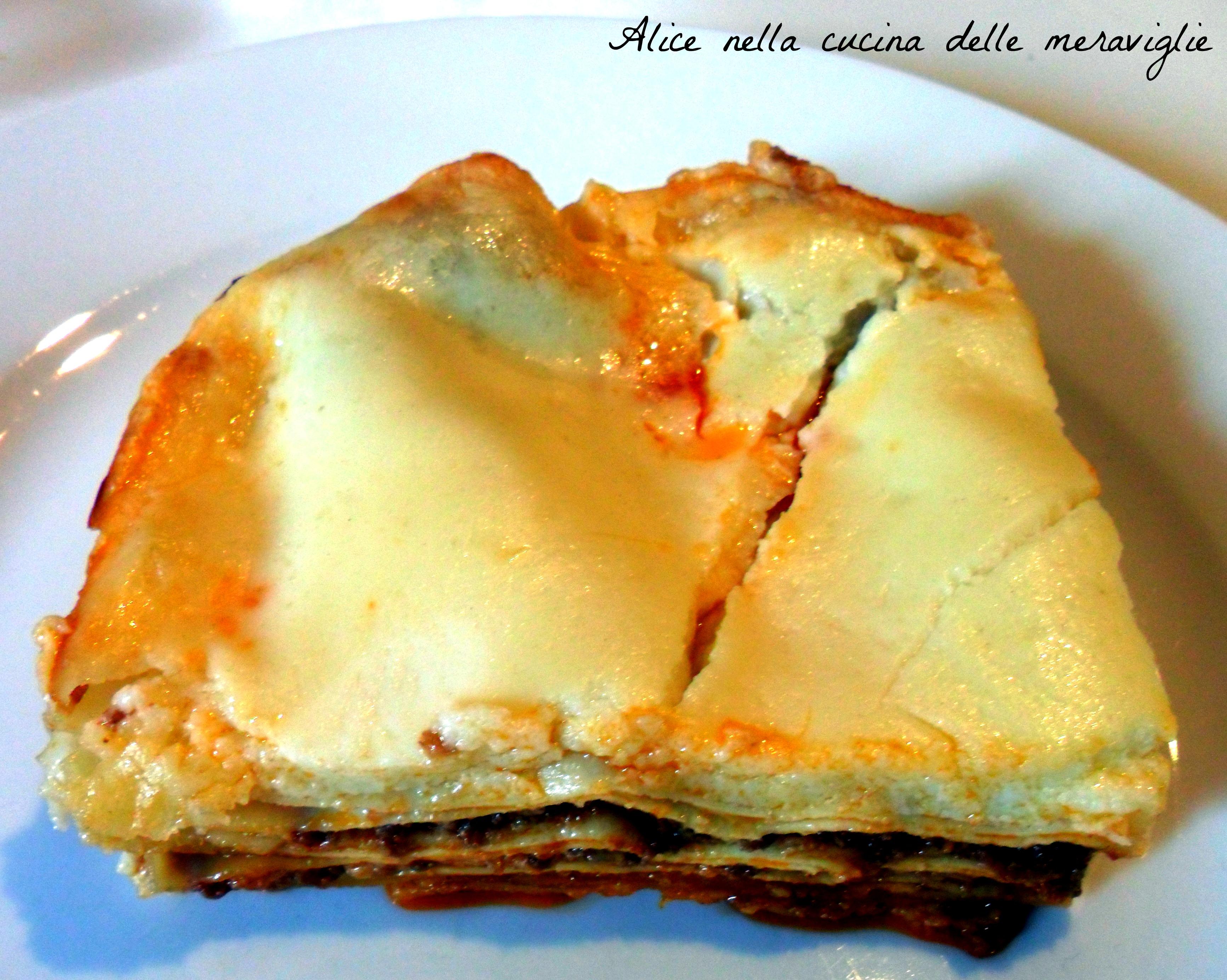 Lasagne Ricetta primo piatto Alice nella cucina delle meraviglie