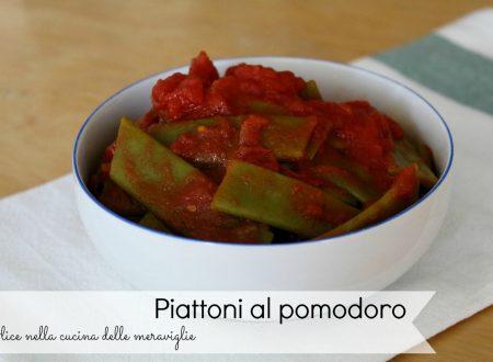 Piattoni al pomodoro, ricetta contorno vegano