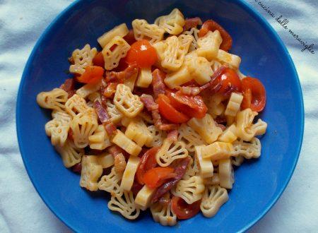 Pasta con pomodorini e pancetta, ricetta primo piatto