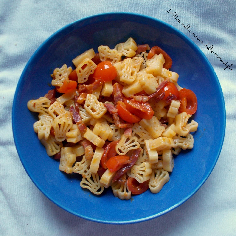 Pasta con pomodorini e pancetta Ricetta primo piatto Alice nella cucina delle meraviglie