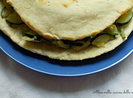Piadina all'olio con zucchine, ricetta vegana