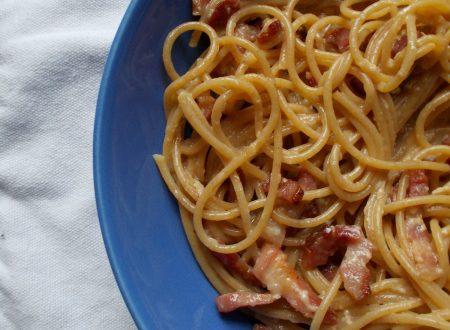 Spaghetti integrali alla carbonara, ricetta primo piatto