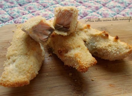 Bastoncini di salmone al forno, ricetta secondo piatto di pesce