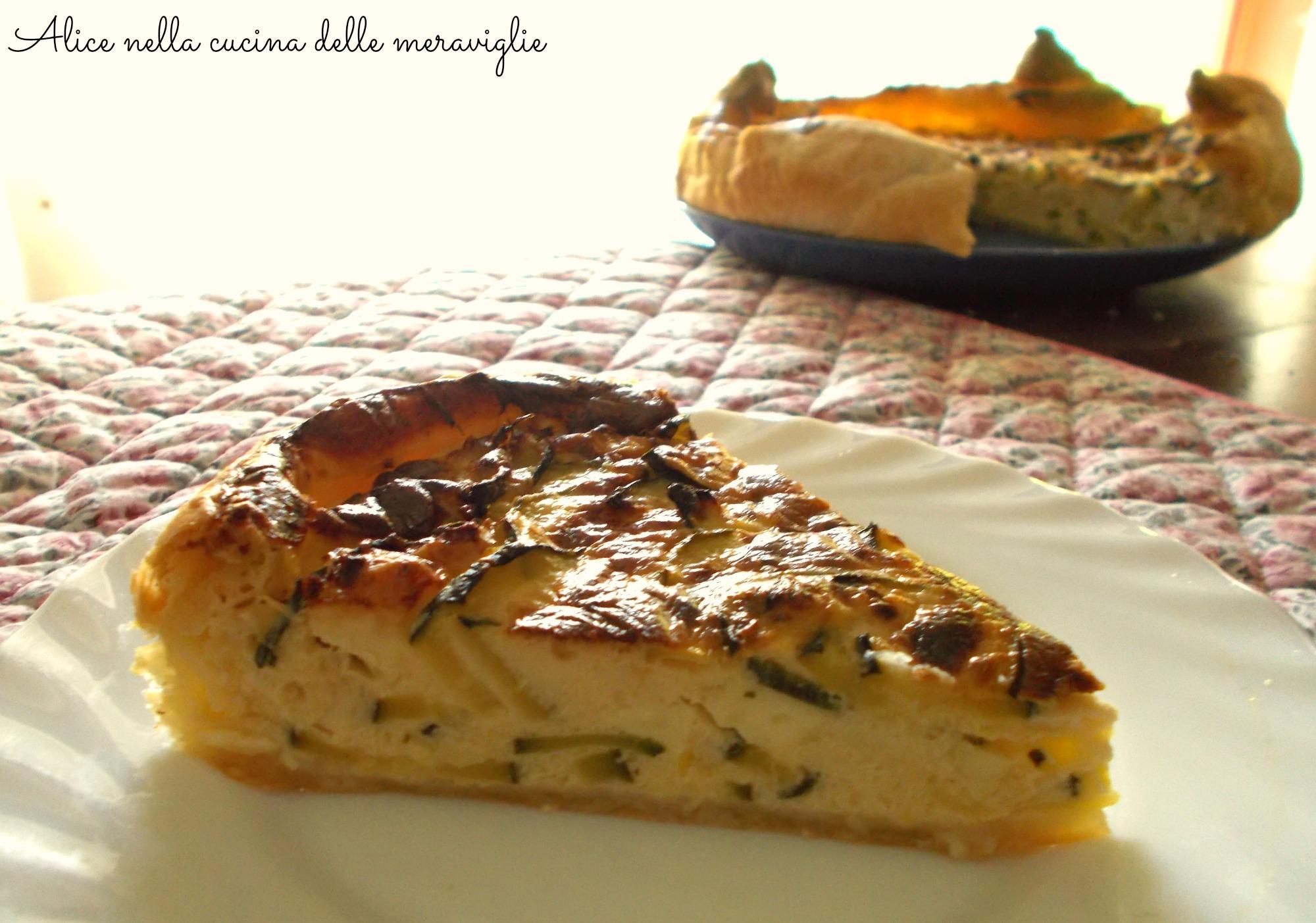 Quiche di zucchine Ricetta vegetariana Alice nella cucina delle meraviglie