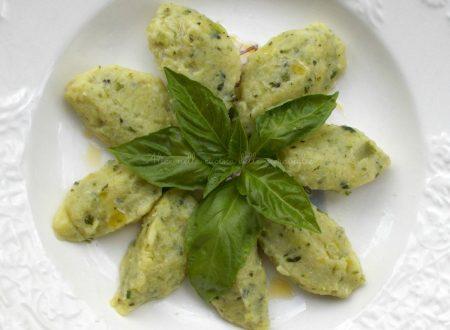 Gnocchi di zucchine, ricetta primo piatto vegetariano light
