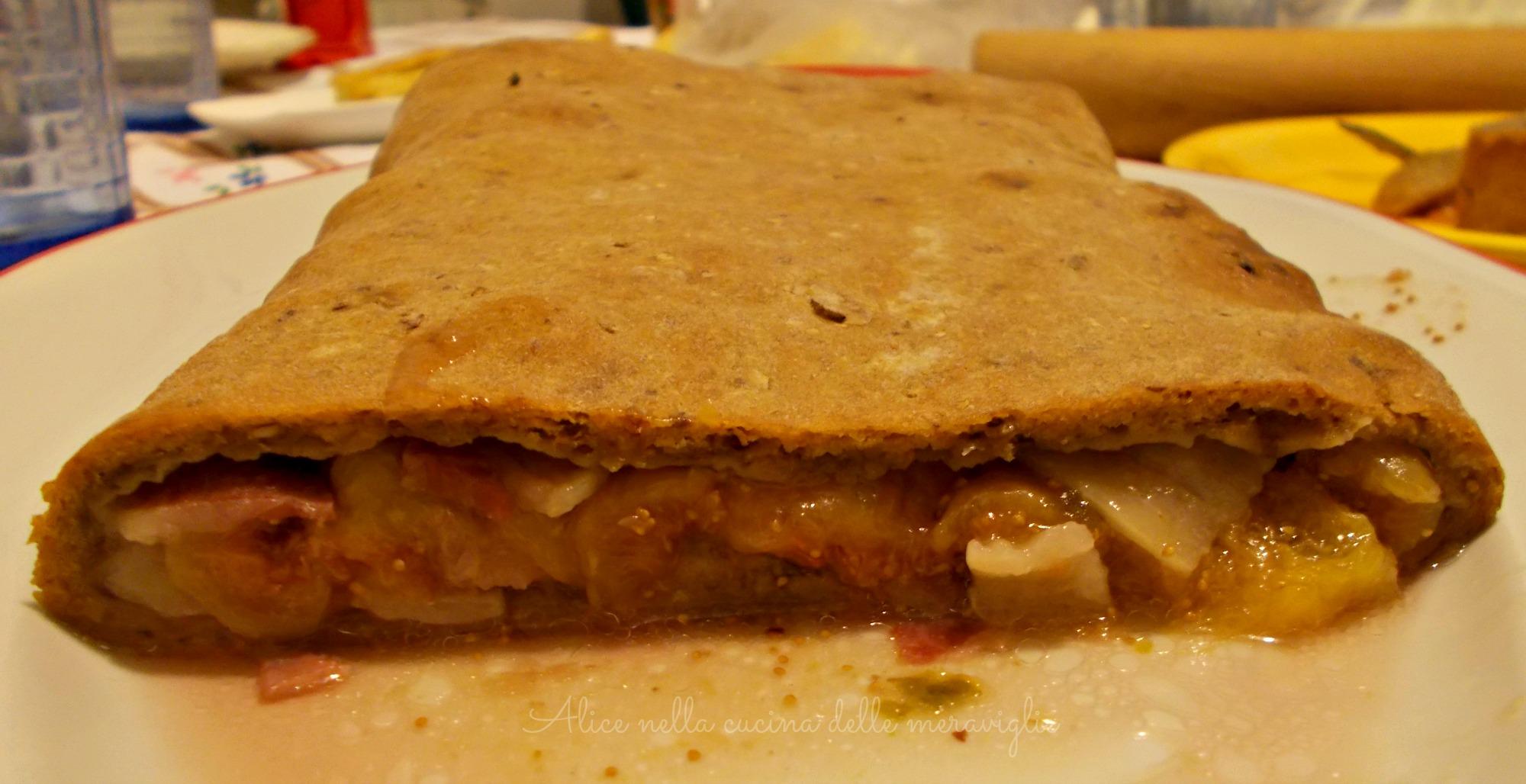 Pane ai cereali ripieno di lardo e fichi Ricetta lievitato salato Alice nella cucina delle meraviglie