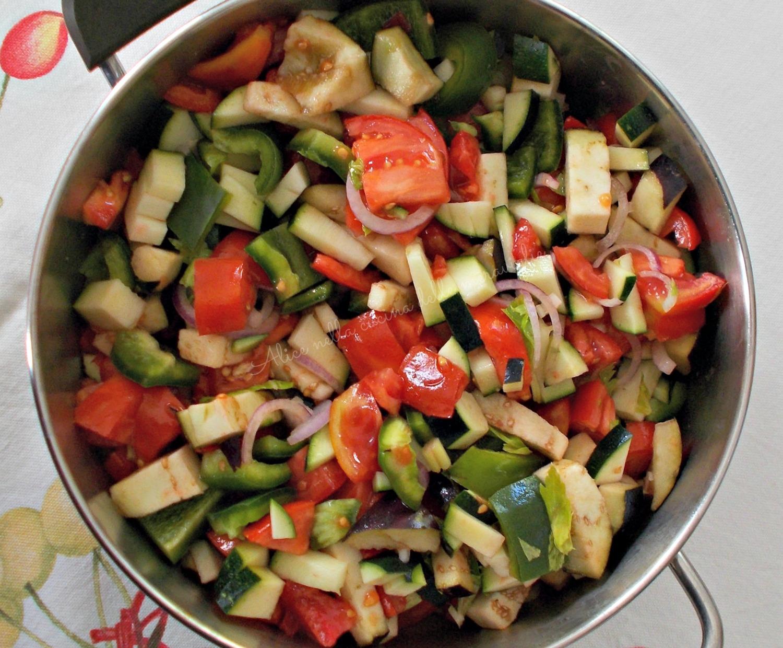 Ratatuja Ricetta contorno vegano Alice nella cucina delle meraviglie