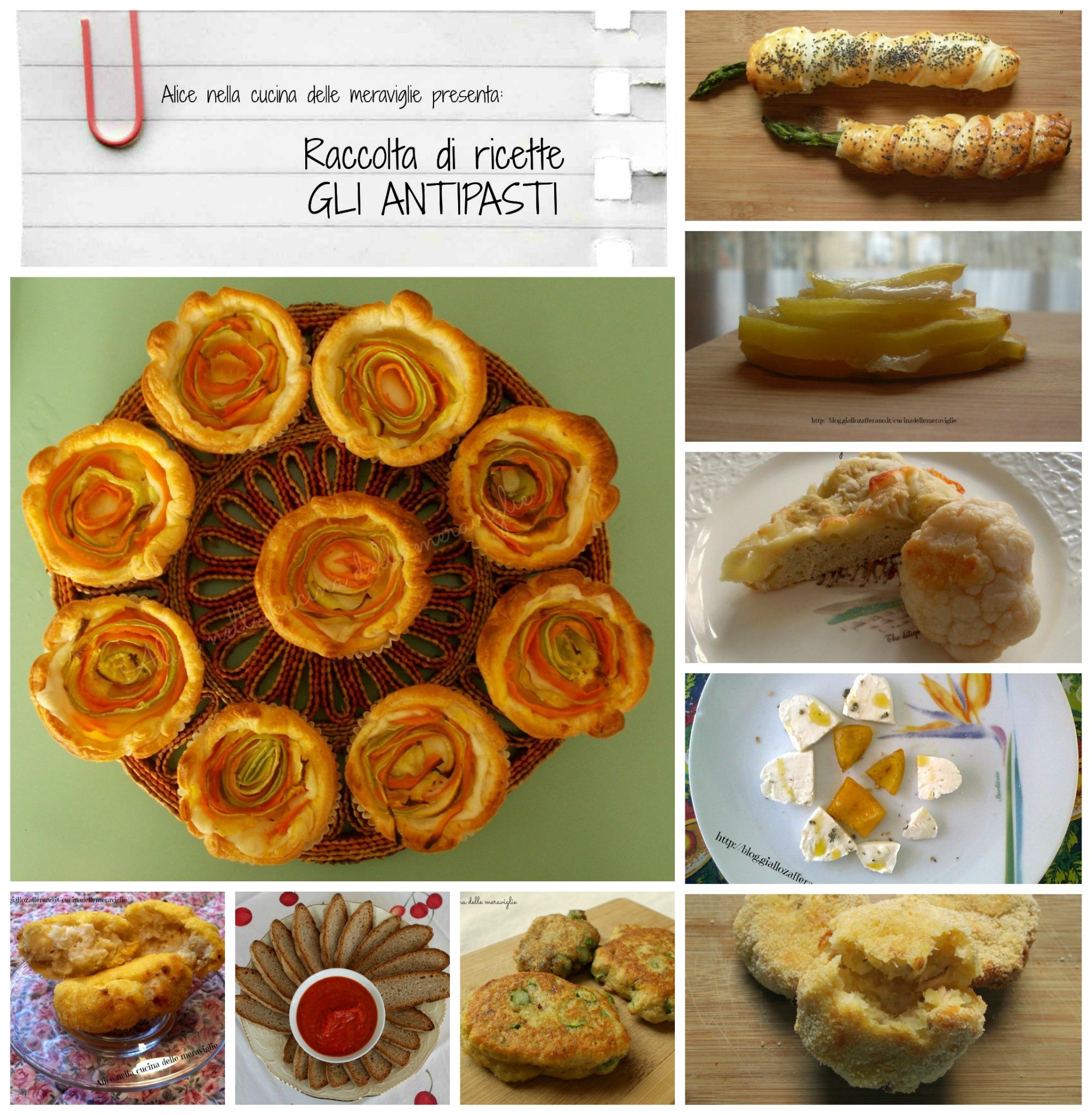 raccolta di ricette gli antipasti alice nella cucina