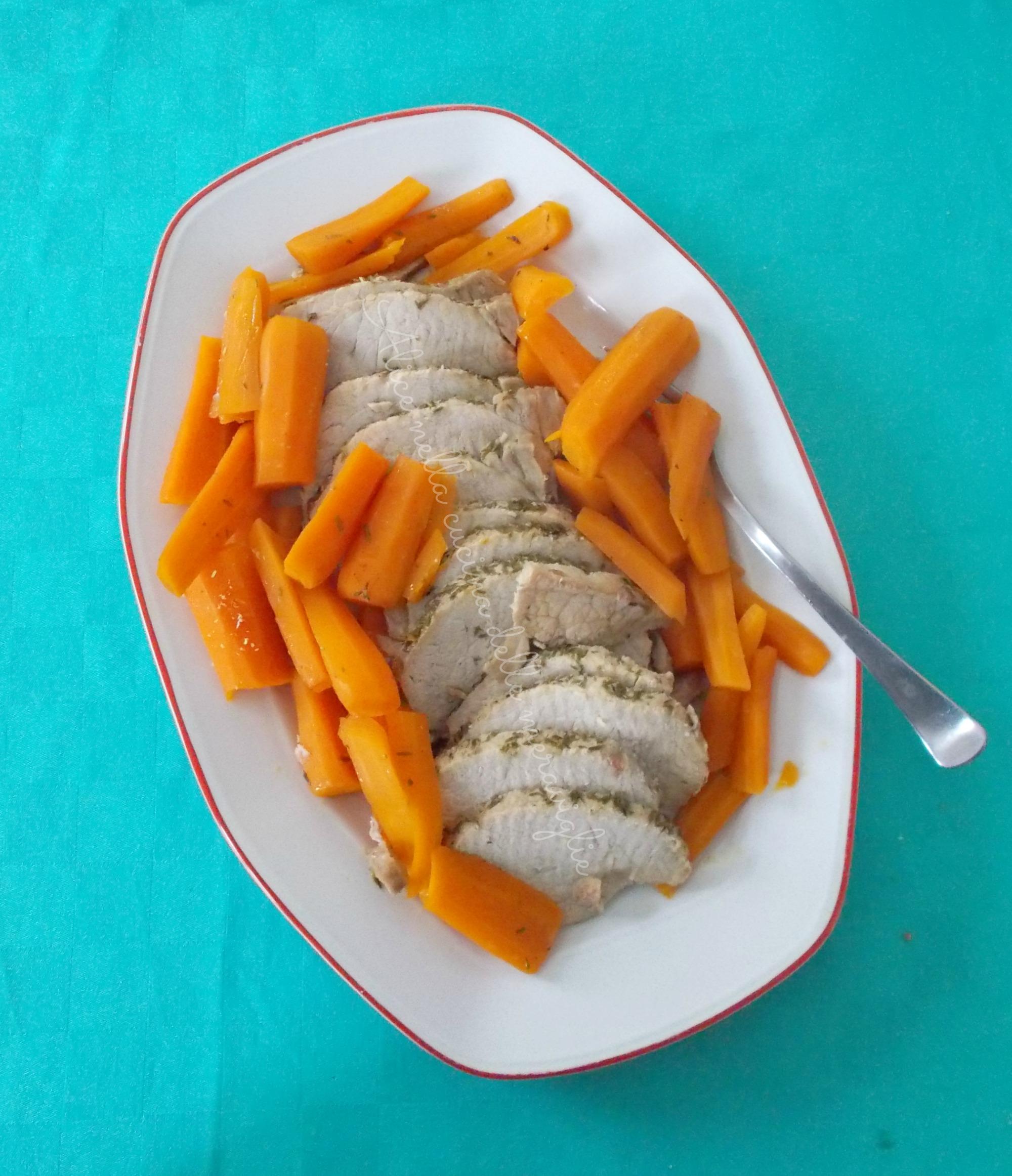 Lonza di maiale arrosto Ricetta secondo piatto di carne in pentola a pressione Alice nella cucina delle meraviglie