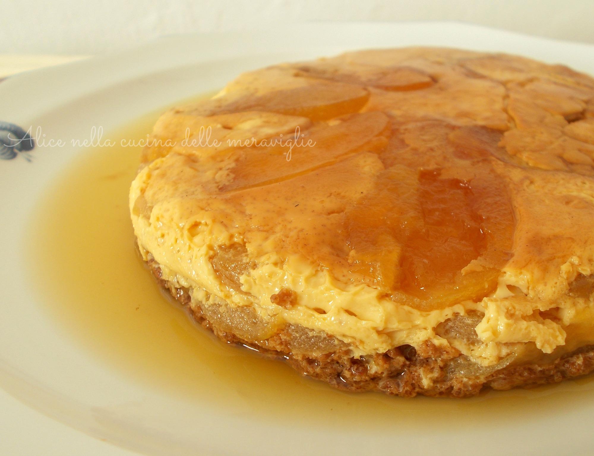 Budino di mele e amaretti Ricetta dolce in pentola a pressione Alice nella cucina delle meraviglie