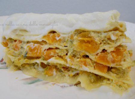 Lasagne alla zucca e porri, ricetta primo piatto vegetariano