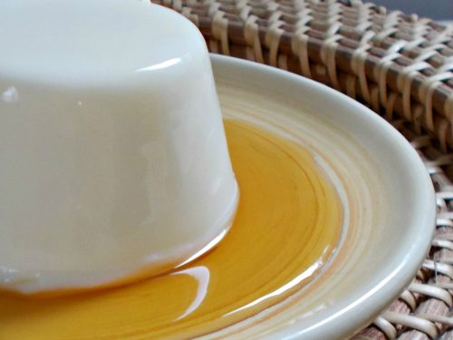 Maple syrup panna cotta