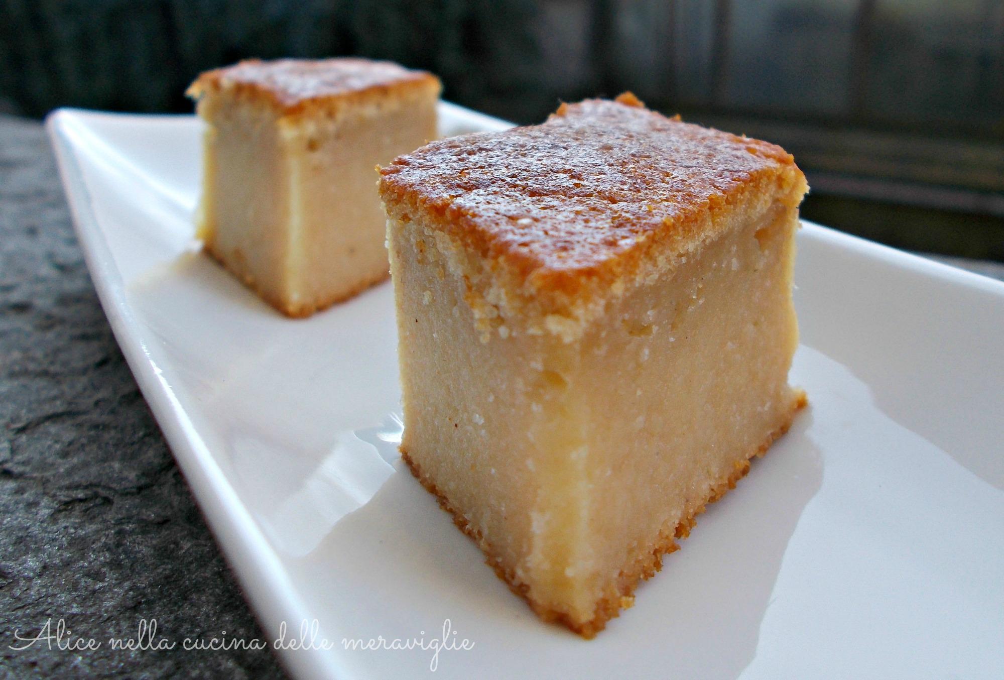 Torta di mele invisibili Ricetta dolce Alice nella cucina delle meraviglie