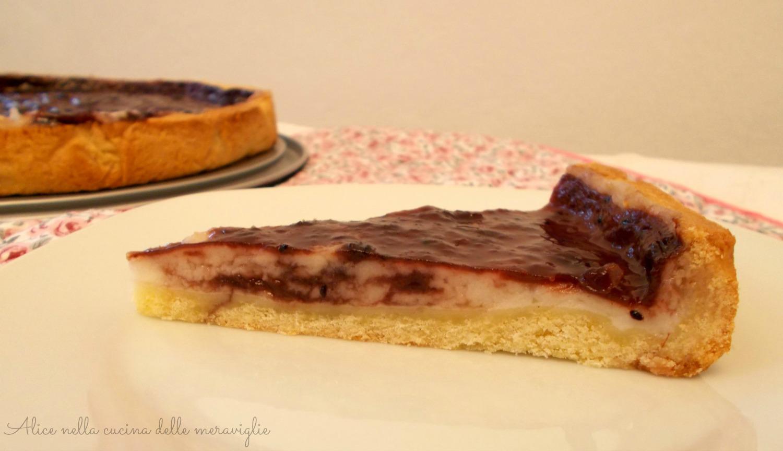 Crostata con crema e marmellata Ricetta dolce Alice nella cucina delle meraviglie