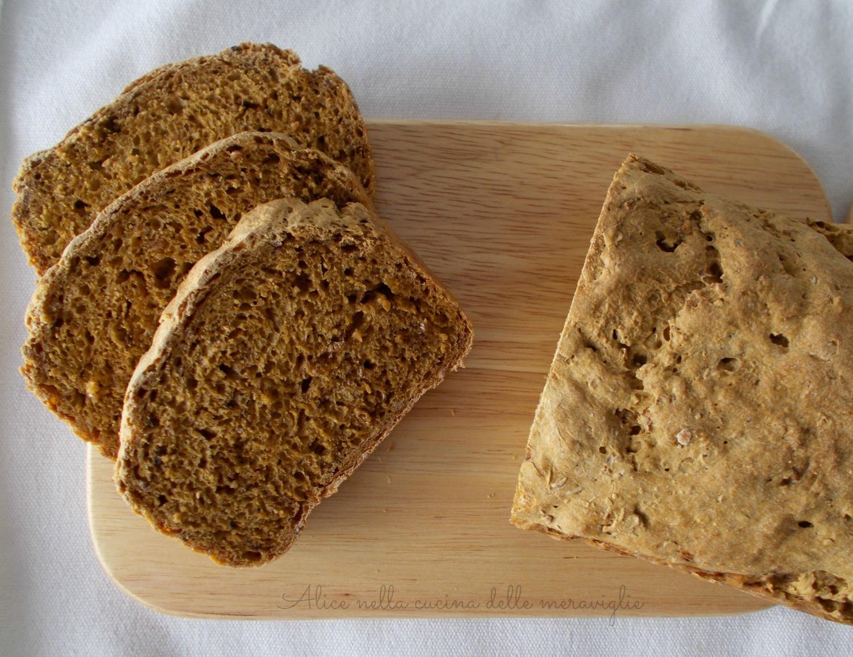 Pane alla zucca e cereali 2