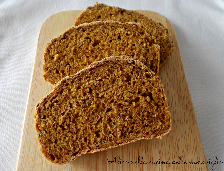 Pane alla zucca e cereali Ricetta lievitato salato Alice nella cucina delle meraviglie
