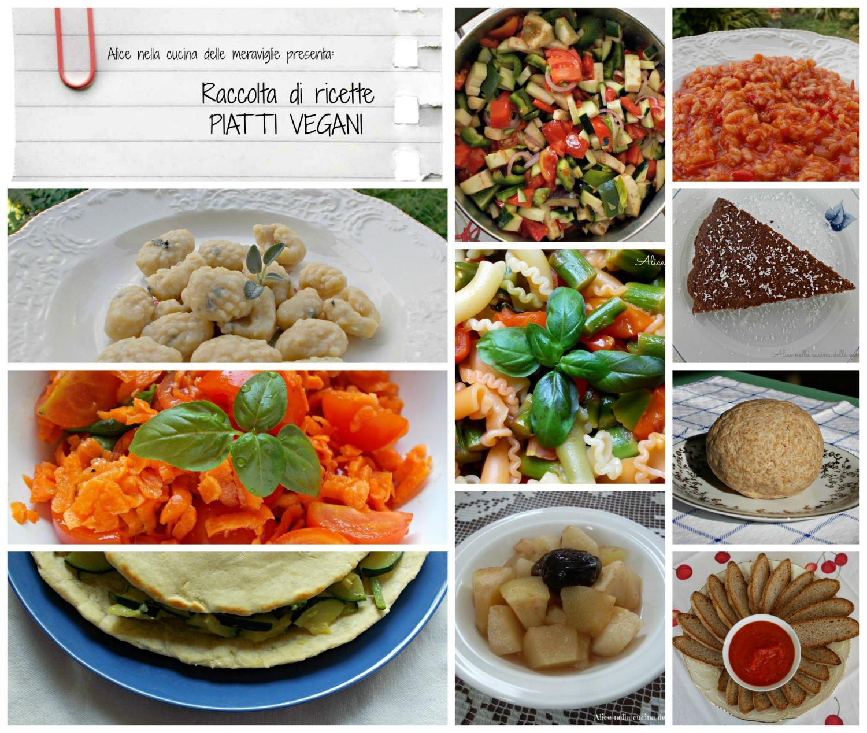 Raccolta di ricette Piatti vegani Alice nella cucina delle meraviglie
