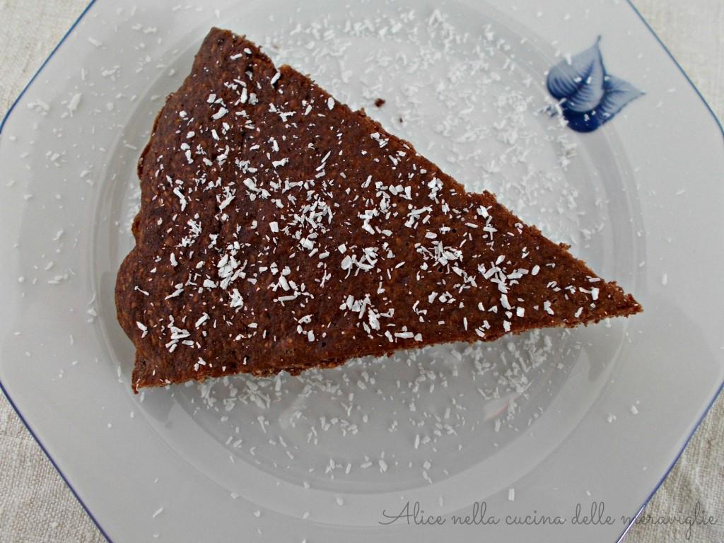 Torta al cacao e cocco Ricetta dolce vegano Senza uova e senza grassi aggiunti Alice nella cucina delle meraviglie
