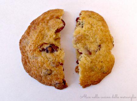 Biscotti ai mirtilli rossi, ricetta dolce