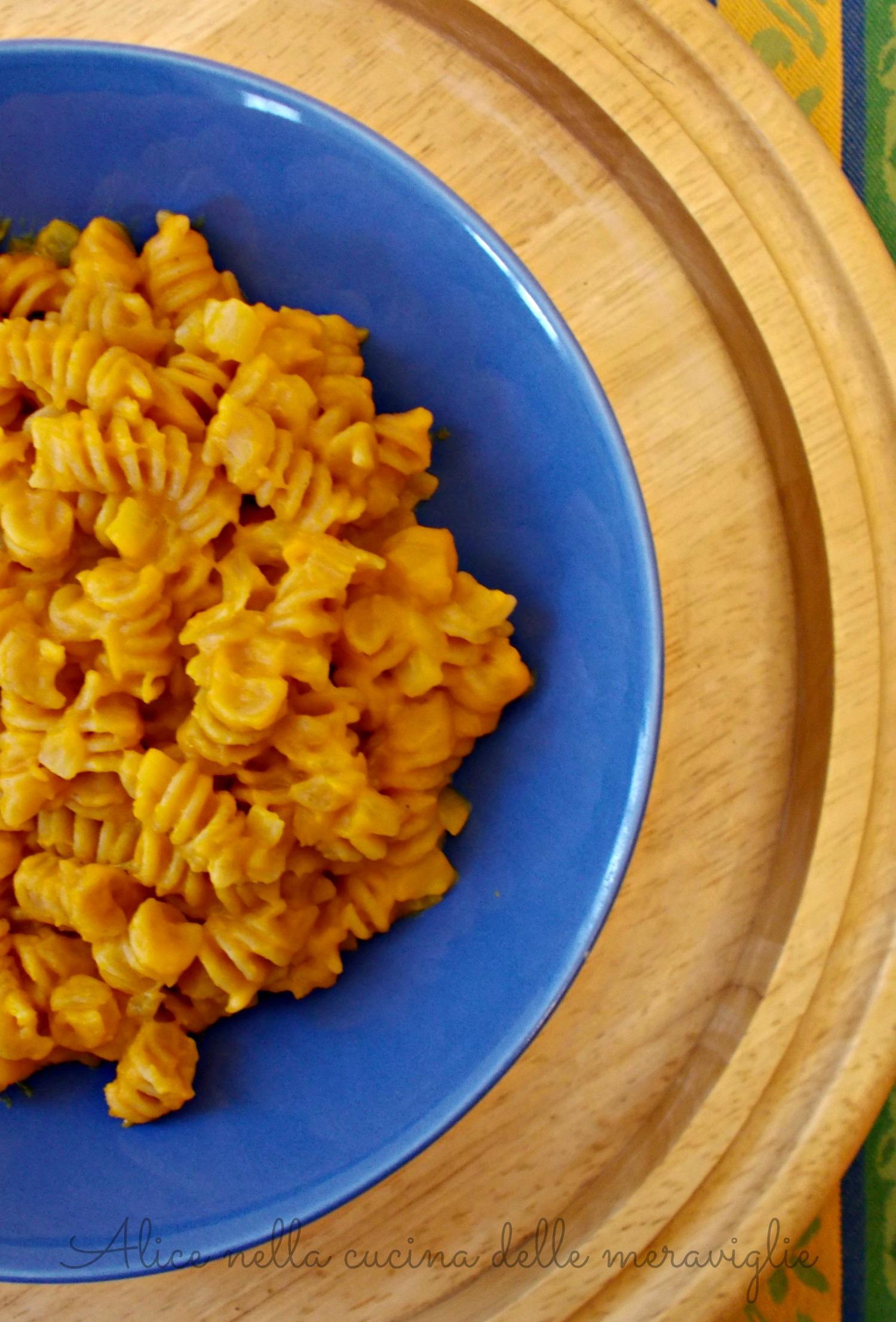 Pasta risottata alla zucca Ricetta primo piatto vegano Alice nella cucina delle meraviglie