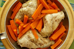 Coniglio con carote e cipolle, ricetta secondo