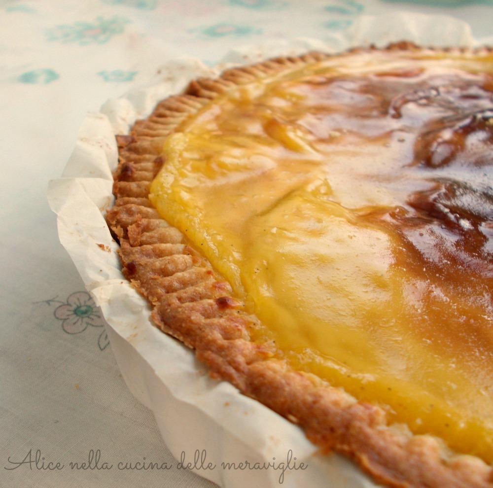 Crostata di ananas e crema Ricetta dolce Alice nella cucina delle meraviglie