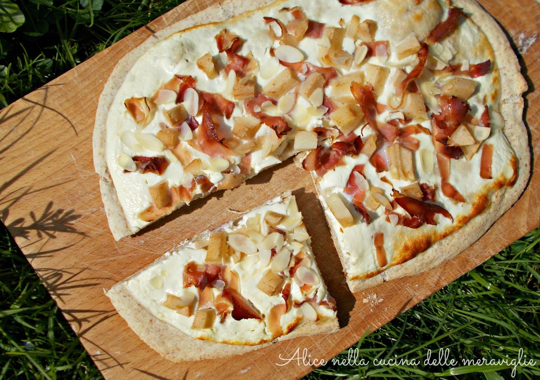 Focaccia alsaziana Ricetta lievitato salato Alice nella cucina delle meraviglie