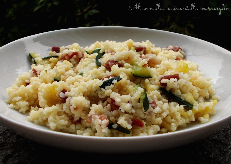 Fregola con zucchine e pancetta Ricetta primo piatto Alice nella cucina delle meraviglie