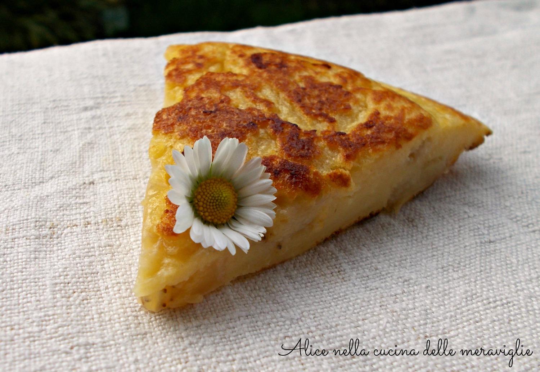 Frittata dolce alla banana Ricetta dolce cotto in padella Alice nella cucina delle meraviglie