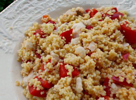 Miglio con filetti di merluzzo e peperoni, ricetta primo piatto light