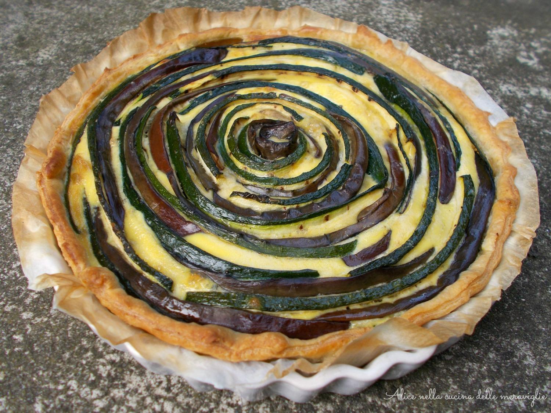 Torta salata con zucchine e melanzane grigliate Ricetta vegetariana Alice nella cucina delle meraviglie