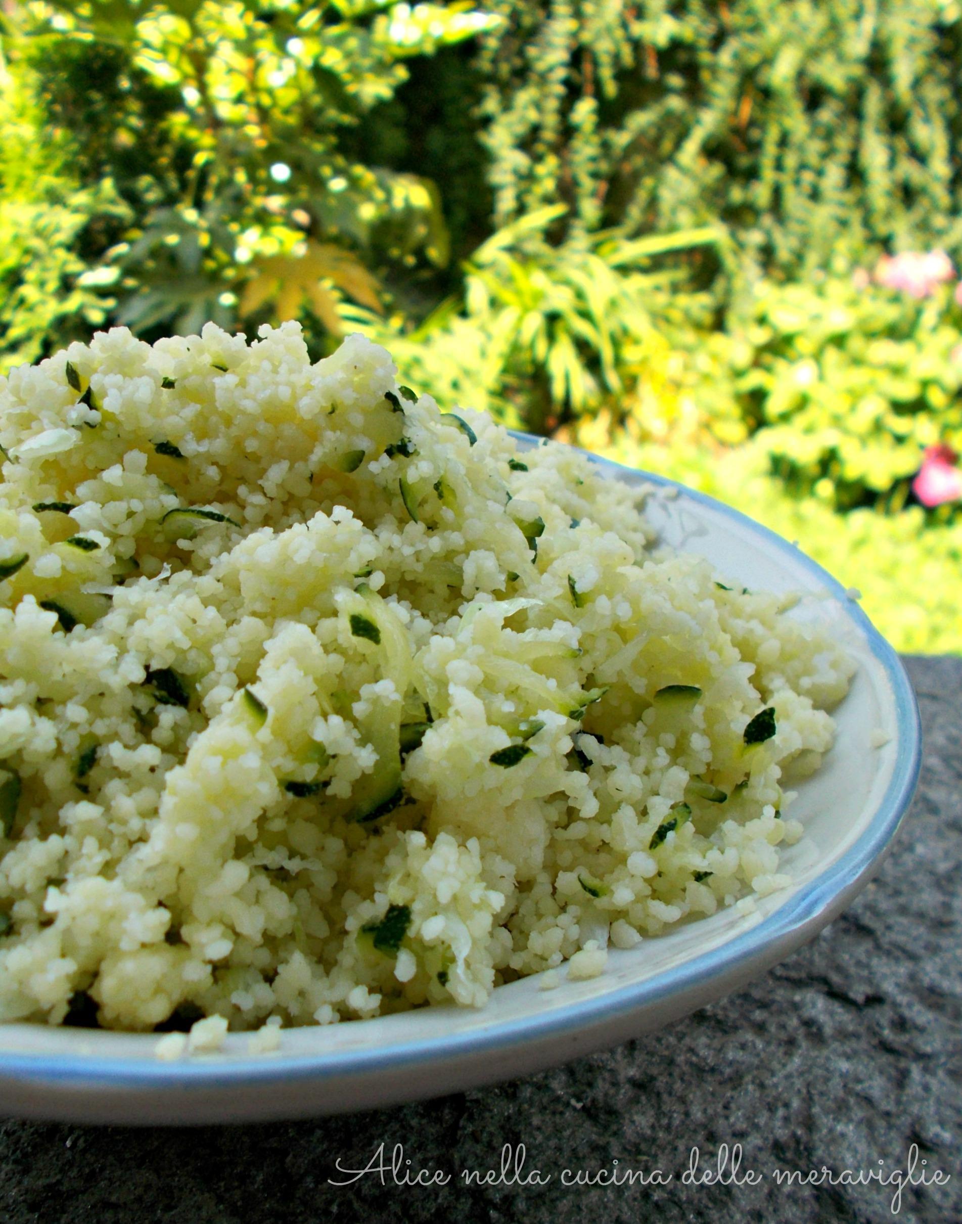 Cous cous con verdure crude Ricetta primo piatto vegano Alice nella cucina delle meraviglie