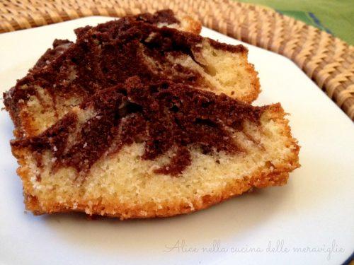 Ciambella marmorizzata alla vaniglia e cacao, ricetta dolce