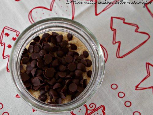 Preparato per dolcetti al cocco e gocce di cioccolato, idea regalo di Natale