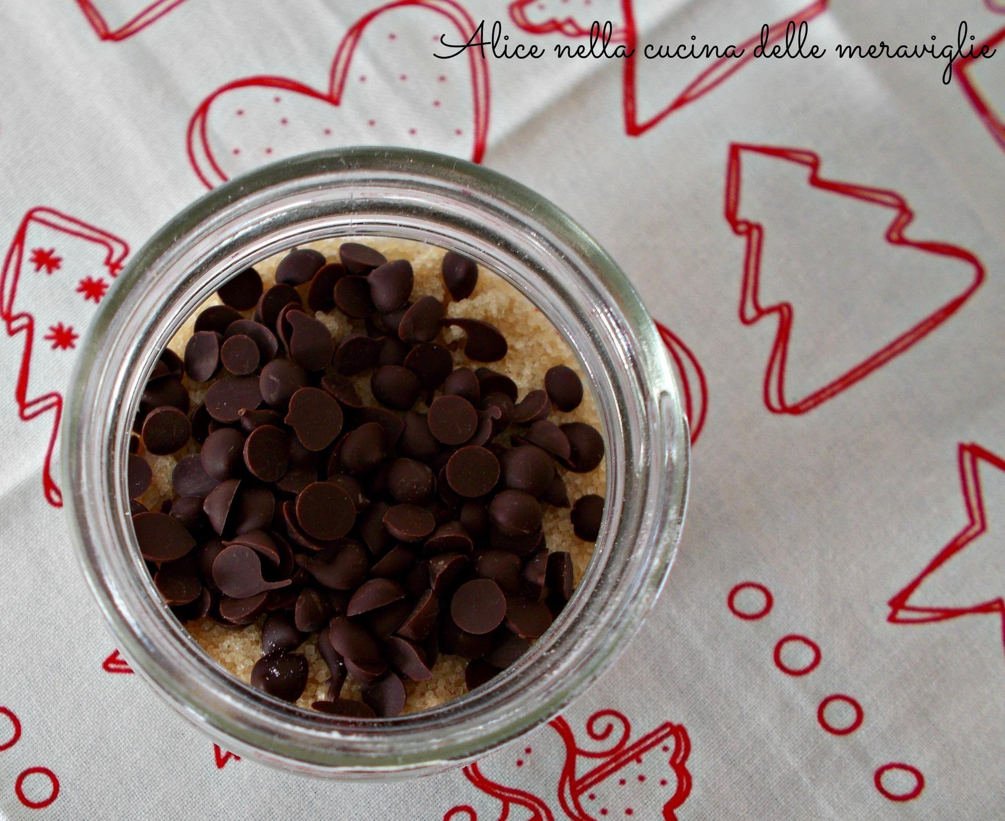 Dolcetti al cocco e gocce di cioccolato Idea regalo di Natale Alice nella cucina delle meraviglie