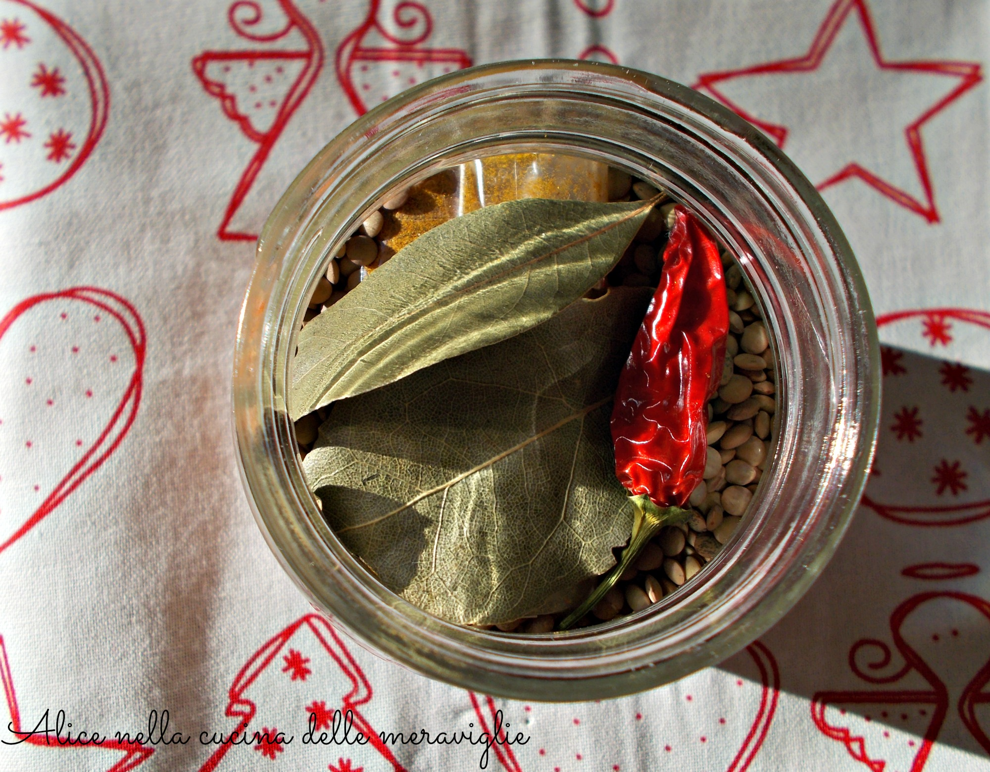 Preparato per zuppa di lenticchie al curry Idea regalo di Natale Alice nella cucina delle meraviglie