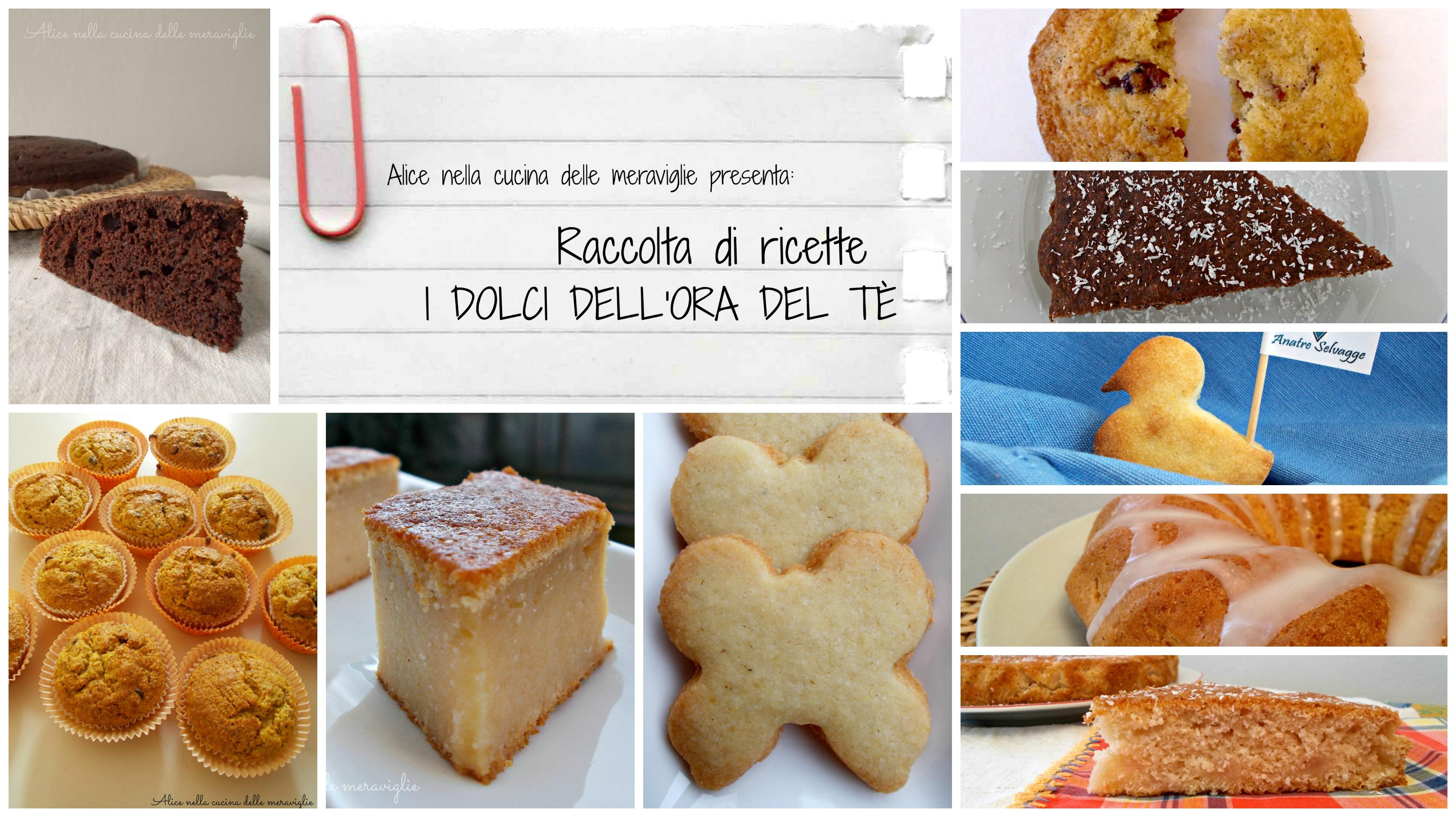 Raccolta di ricette I dolci dell'ora del tè Alice nella cucina delle meraviglie