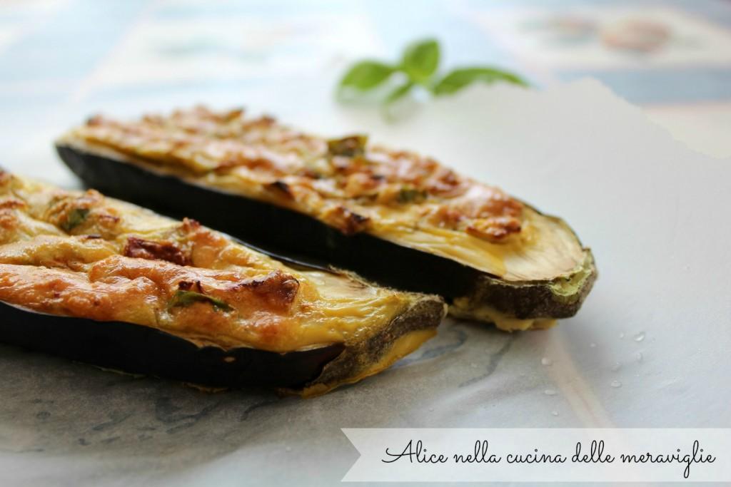 Melanzane ripiene Ricetta secondo piatto vegetariano Alice nella cucina delle meraviglie
