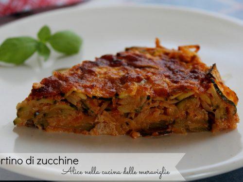 Tortino di zucchine, ricetta torta salata light