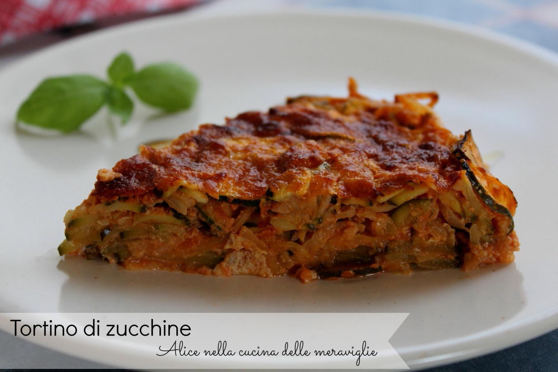 Tortino di zucchine Ricetta torta salata light Alice nella cucina delle meraviglie