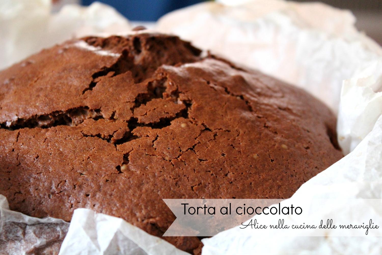 Torta al cioccolato Ricetta dolce Alice nella cucina delle meraviglie