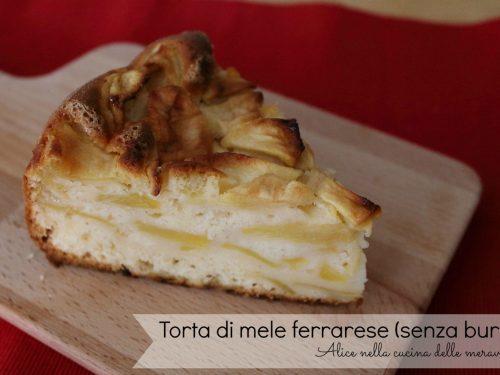Torta di mele ferrarese, ricetta dolce (senza burro)