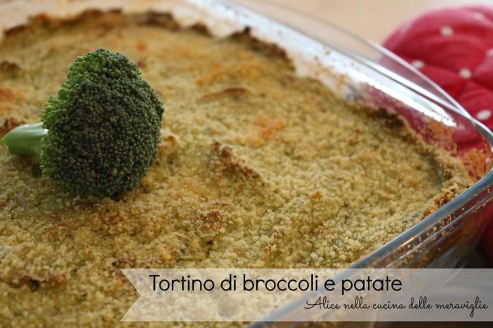 Tortino di broccoli e patate Ricetta secondo piatto vegetariano Alice nella cucina delle meraviglie
