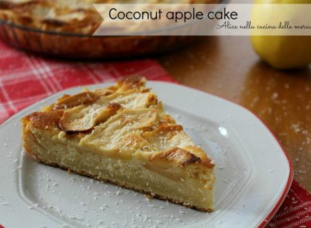 Coconut apple cake