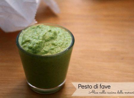 Pesto di fave, ricetta base vegetariana