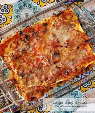 Lasagne al ragù di verdure Ricetta primo piatto vegetariano senza lattosio Alice nella cucina delle meraviglie 2