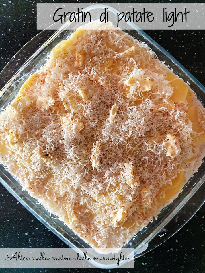 Gratin di patate light Ricetta contorno vegetariano Alice nella cucina delle meraviglie