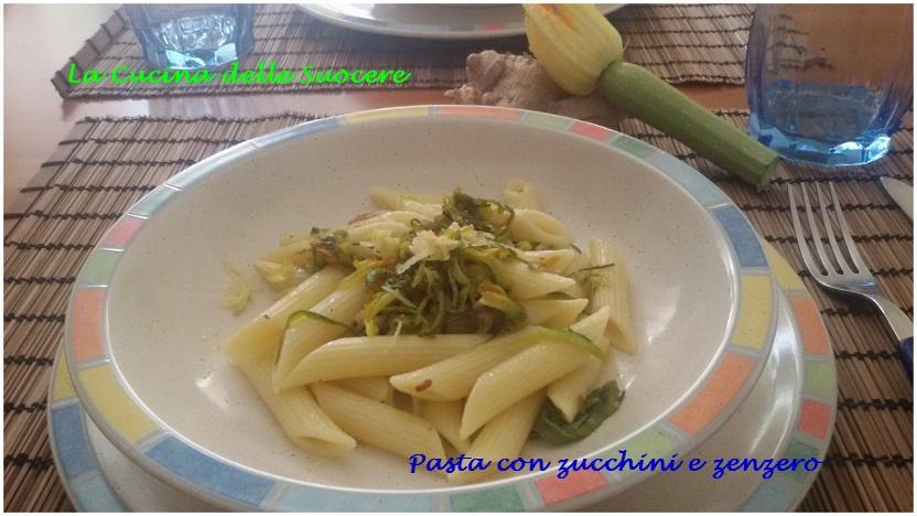 Pasta con zucchini e zenzero