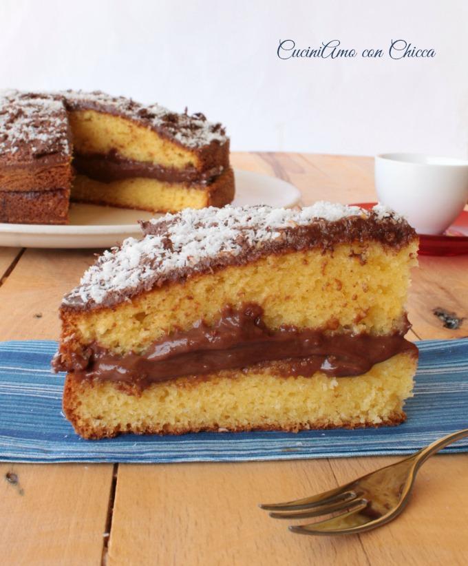 torta al cocco e nutella|CuciniAmo con Chicca