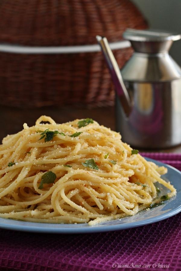 Spaghetti con mollica